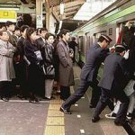 Crowded Trains in Japan