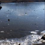Mt. Fuji and a frozen lake